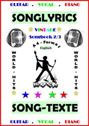 100 Englische Songtexte (2/3): Welthits + Gitarren-Playbacks