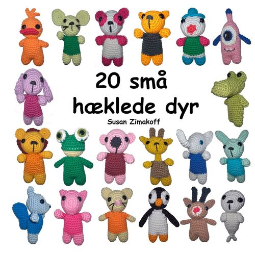 20 små hæklede dyr