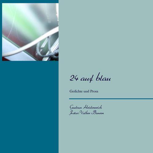 24 auf blau