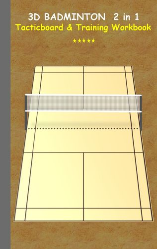 3D Badminton 2 in 1 Tacticboard and Training Book