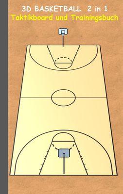 3D Basketball 2 in 1 Taktikboard und Trainingsbuch