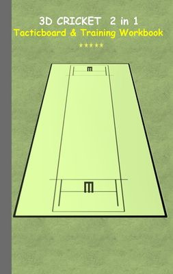 3D Cricket 2 in 1 Tacticboard and Training Book