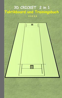 3D Cricket 2 in 1 Taktikboard und Trainingsbuch