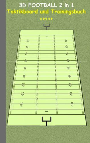 3D Football 2 in 1 Taktikboard und Trainingsbuch