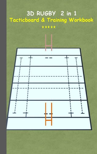 3D Rugby 2 in 1 Tacticboard and Training Book