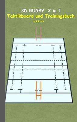 3D Rugby 2 in 1 Taktikboard und Trainingsbuch