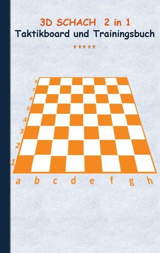 3D Schach 2 in 1 Taktikboard und Trainingsbuch