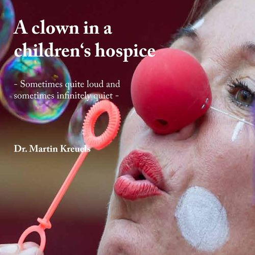 A clown in a children's hospice