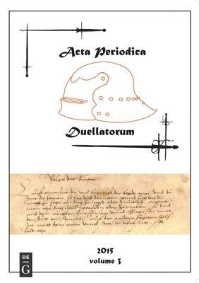 Acta Periodica Duellatorum (vol. 3)
