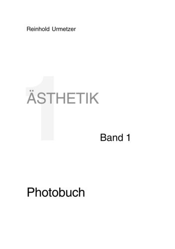 Ästhetik  Band 1