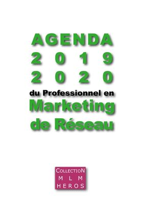 Agenda 2019 2020 du Professionnel en Marketing du Réseau