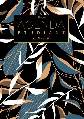 Agenda Etudiant 2019/2020 - Calendrier, Agenda Semainier de Août 2019 à Août 2020 et Agenda Journalier Scolaire - Cadeau Enfant et Étudiant