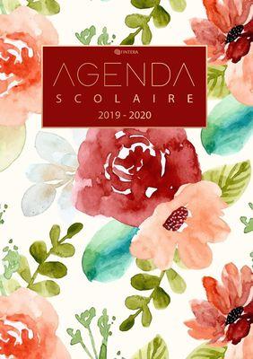 Agenda Scolaire 2019 / 2020 - Agenda Semainier, Agenda Journalier Scolaire et Calendrier de Août 2019 à Août 2020