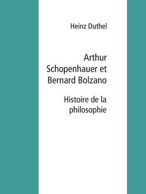 Arthur Schopenhauer et Bernard Bolzano