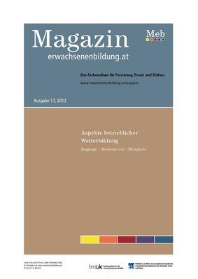 Aspekte betrieblicher Weiterbildung - Magazin erwachsenenbildung.at, 17/2012