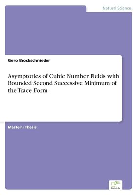 Asymptotics of Cubic Number Fields with Bounded Second Successive Minimum of the Trace Form