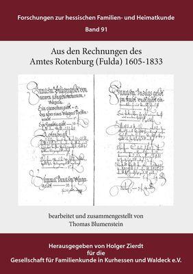 Aus den Rechnungen des Amtes Rotenburg (Fulda)