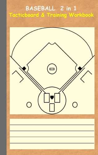 Baseball 2 in 1 Tacticboard and Training Workbook