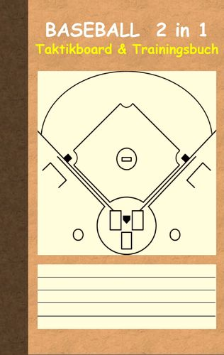 Baseball 2 in 1 Taktikboard und Trainingsbuch