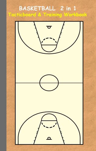 Basketball 2 in 1 Tacticboard and Training Workbook