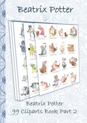 Beatrix Potter 99 Cliparts Book Part 2 ( Peter Rabbit )