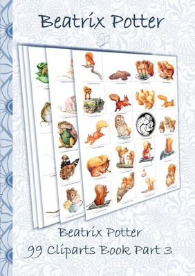 Beatrix Potter 99 Cliparts Book Part 3 ( Peter Rabbit )