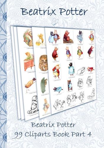 Beatrix Potter 99 Cliparts Book Part 4 ( Peter Rabbit )