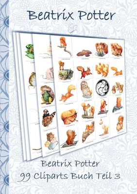 Beatrix Potter 99 Cliparts Buch Teil 3 ( Peter Hase )