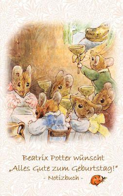 """Beatrix Potter wünscht """"Alles Gute zum Geburtstag!"""" Notizbuch ( Peter Hase )"""