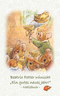 """Beatrix Potter wünscht """"Ein gutes neues Jahr!"""" Notizbuch ( Peter Hase )"""
