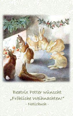 """Beatrix Potter wünscht """"Fröhliche Weihnachten!"""" Notizbuch ( Peter Hase )"""