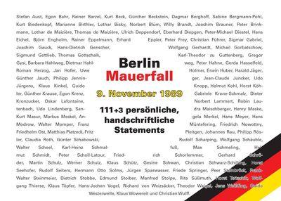 Berlin - Mauerfall - 9. November 1989