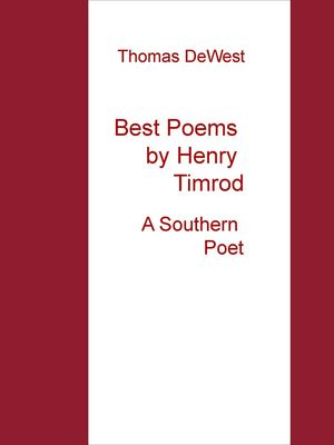 Best Poems by Henry Timrod