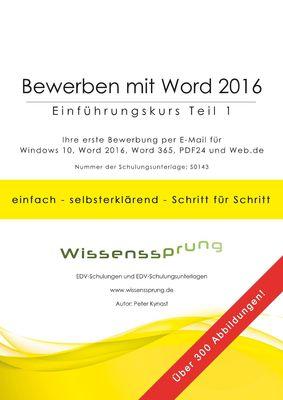 Bewerben mit Word 2016 - Einführungskurs Teil 1