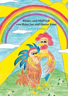 Bilder- und Malbuch von Hahn Jan und Henne Enne