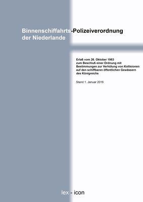 Binnenschiffahrts-Polizeiverordnung der Niederlande