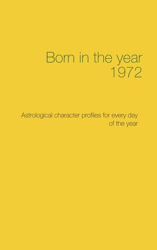 Born in the year 1972