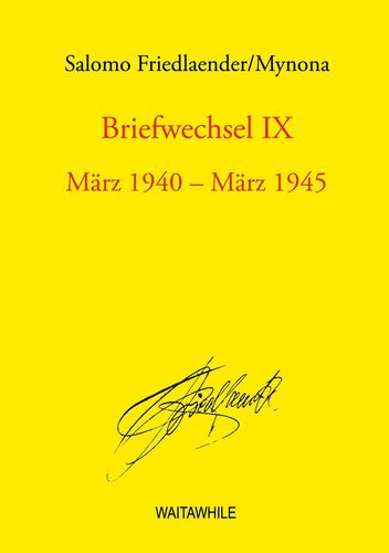 Briefwechsel IX
