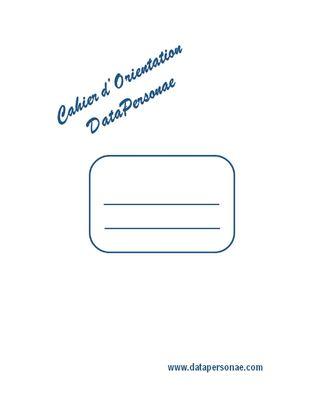 Cahier d'Orientation DataPersonae