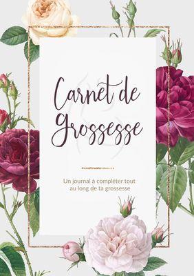 Carnet De Grossesse - Un journal à compléter tout au long de ta grossesse | Livre et Cadeau Grossesse