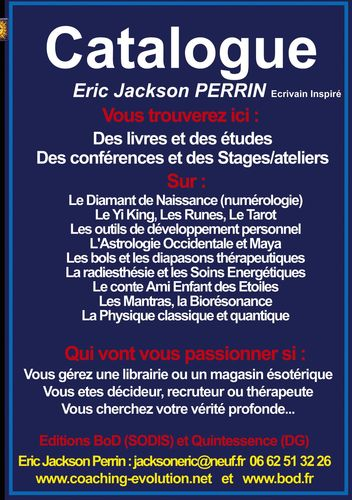 Catalogue livres et services ERIC JACKSON PERRIN 2019