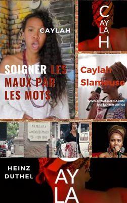 Caylah, jeune slameuse malgache