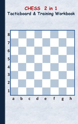 Chess 2 in 1 Tacticboard and Training Workbook
