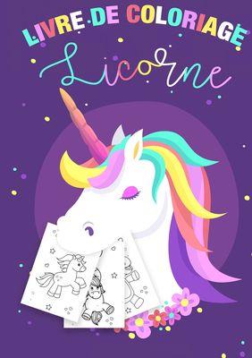 Coloriage Licornes pour Enfants 3-8 ans - Livre de coloriage Licorne et cadeau fille