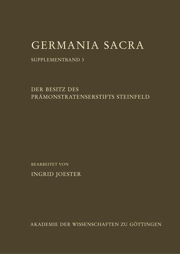 Der Besitz des Prämonstratenserstifts Steinfeld