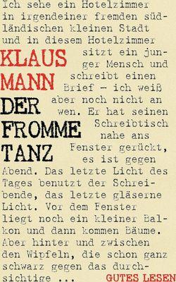 Der fromme Tanz - Roman einer Jugend