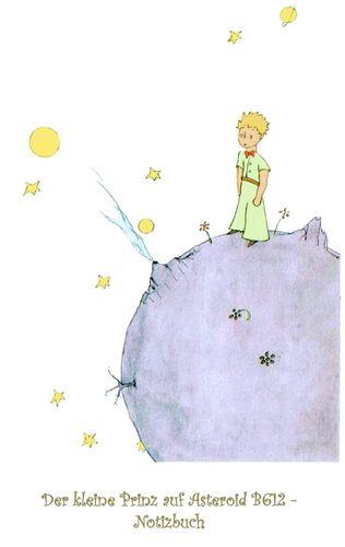 Der kleine Prinz auf Asteroid B612 - Notizbuch