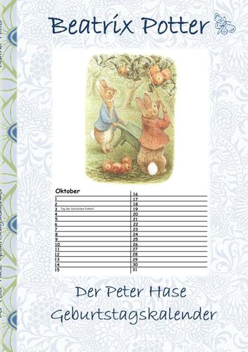 Der Peter Hase Geburtstagskalender