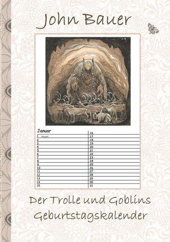 Der Trolle und Goblins Geburtstagskalender