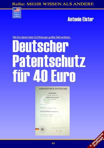 Deutscher Patentschutz für 40 Euro